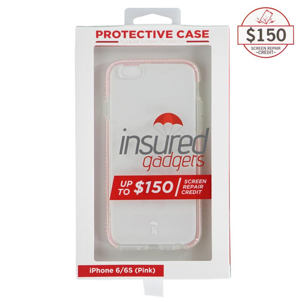 Ultra-thin protective case + Insured Gadgets up to $150.00 protection for iPhone 6 & iPhone 6S - Pink