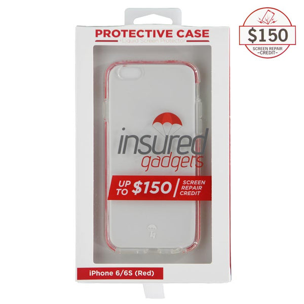 Ultra-thin protective case + Insured Gadgets up to $150.00 protection for iPhone 6 & iPhone 6S - Red