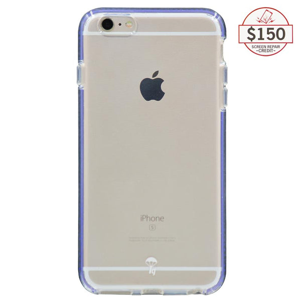 Ultra-thin protective case + Insured Gadgets up to $150.00 protection for iPhone 6 Plus & iPhone 6S Plus - Blue
