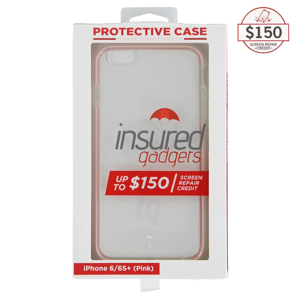 Ultra-thin protective case + Insured Gadgets up to $150.00 protection for iPhone 6 Plus & iPhone 6S Plus - Pink