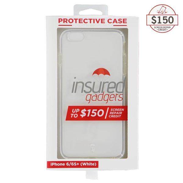 Ultra-thin protective case + Insured Gadgets up to $150.00 protection for iPhone 6 Plus & iPhone 6S Plus - White