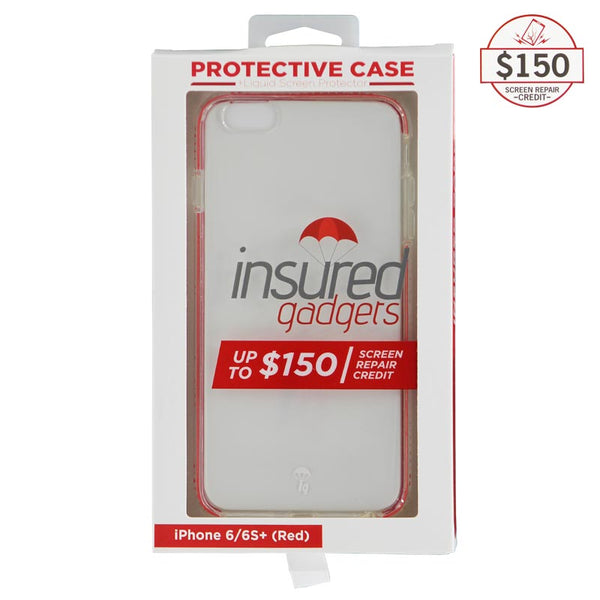 Ultra-thin protective case + Insured Gadgets up to $150.00 protection for iPhone 6 Plus & iPhone 6S Plus - Red