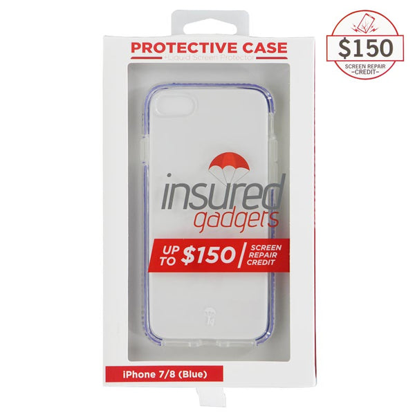 Ultra-thin protective case + Insured Gadgets up to $150.00 protection for iPhone 7 & iPhone 8 - Blue