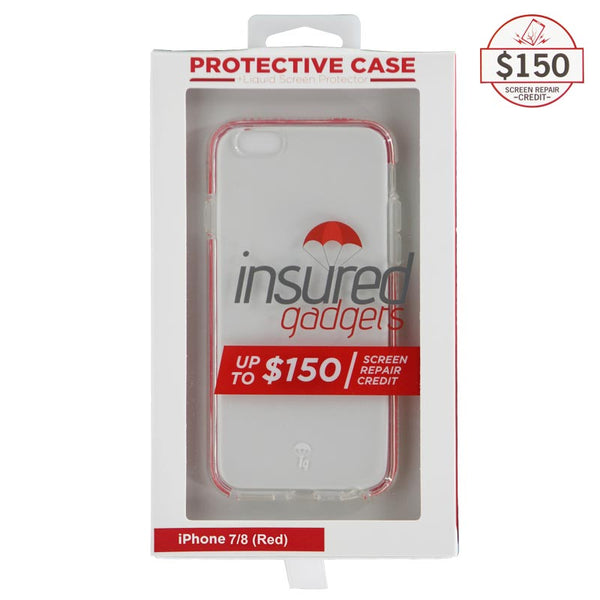 Ultra-thin protective case + Insured Gadgets up to $150.00 protection for iPhone 7 & iPhone 8 - Red