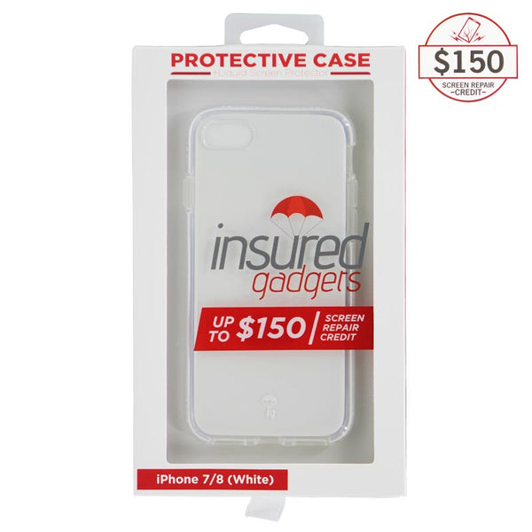 Ultra-thin protective case + Insured Gadgets up to $150.00 protection for iPhone 7 & iPhone 8 - White
