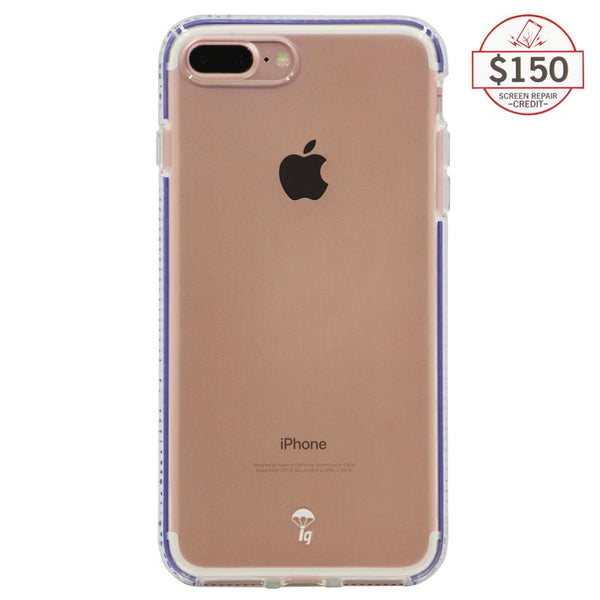 Ultra-thin protective case + Insured Gadgets up to $150.00 protection for iPhone 7 Plus & iPhone 8 Plus - Blue