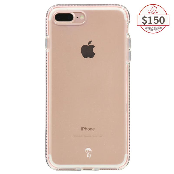 Ultra-thin protective case + Insured Gadgets up to $150.00 protection for iPhone 7 Plus & iPhone 8 Plus - Pink