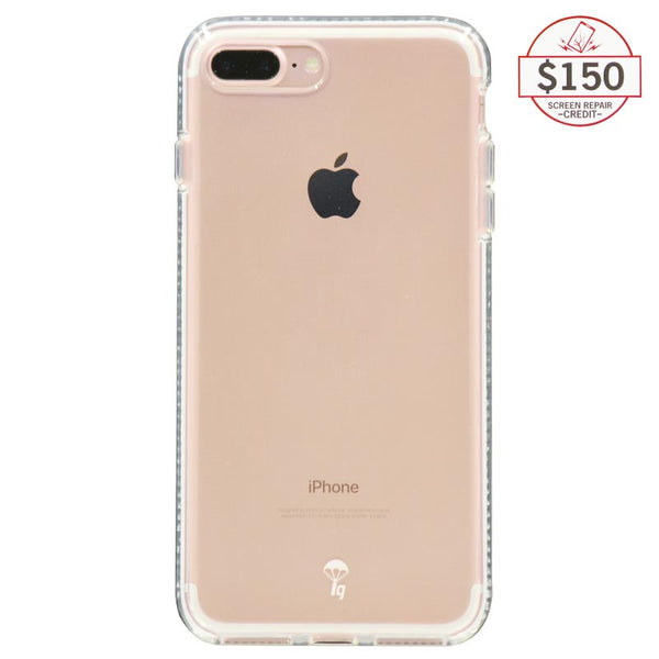 Ultra-thin protective case + Insured Gadgets up to $150.00 protection for iPhone 7 Plus & iPhone 8 Plus - White