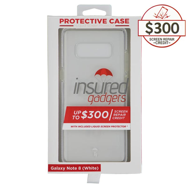 Ultra-thin protective case + Insured Gadgets up to $300.00 protection for Samsung Galaxy Note 8 - White