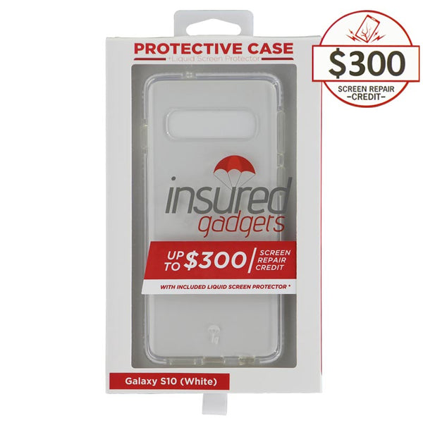 Ultra-thin protective case + Insured Gadgets up to $300.00 protection for Samsung Galaxy S10 - White