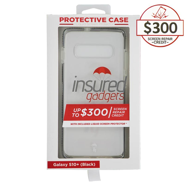 Ultra-thin protective case + Insured Gadgets up to $300.00 protection for Samsung Galaxy S10 Plus - Black