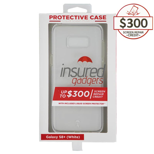 Ultra-thin protective case + Insured Gadgets up to $300.00 protection for Samsung Galaxy S8 Plus - White