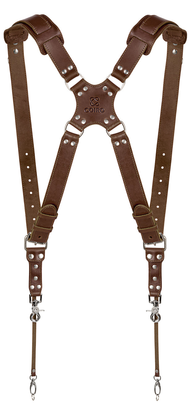 leather Brown Padded camera Straps