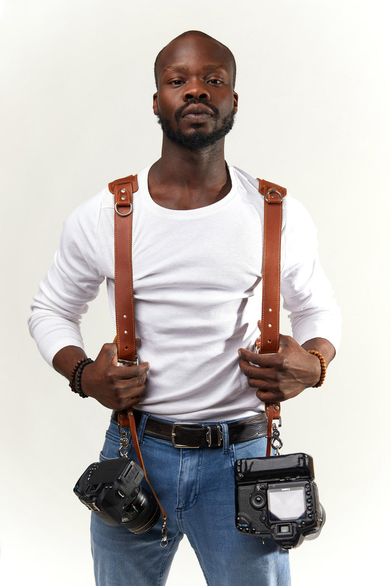 Tan Padded Camera Straps