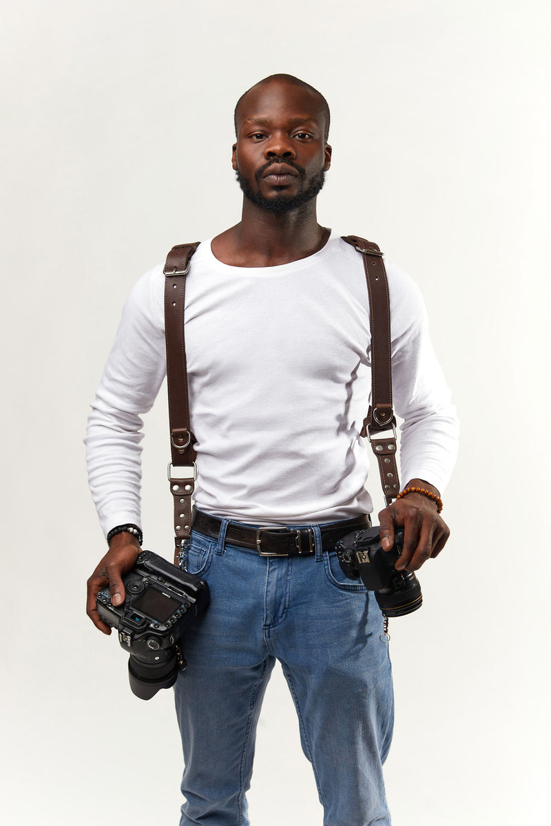 Brown Padded Camera Straps