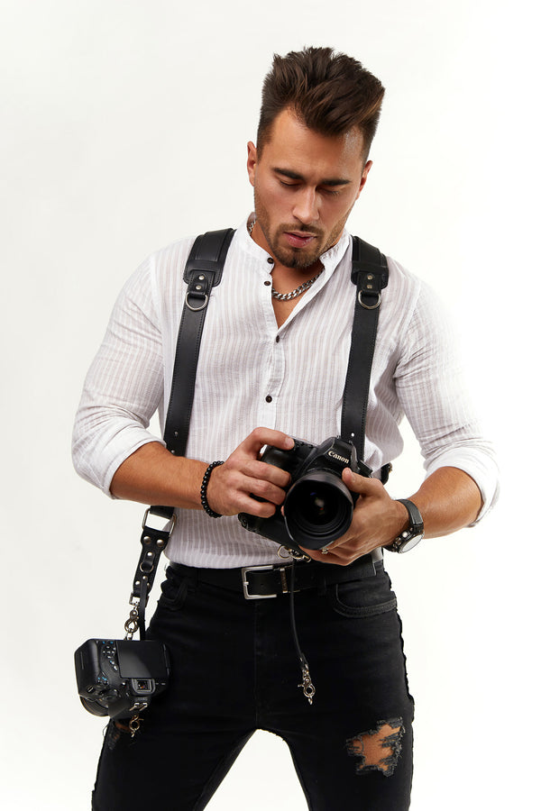 Black Padded Camera Straps