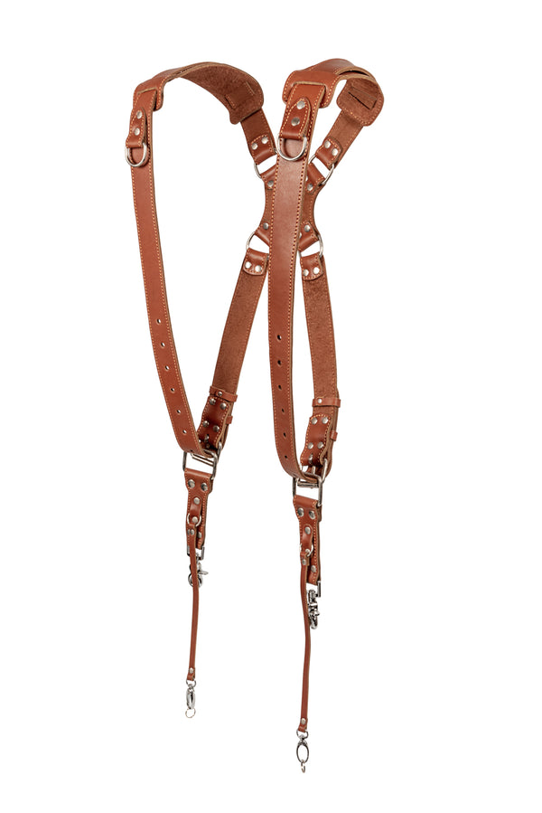 leather Tan Padded Camera Straps