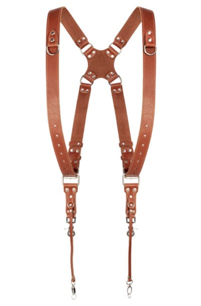 Tan Dual Camera Harness
