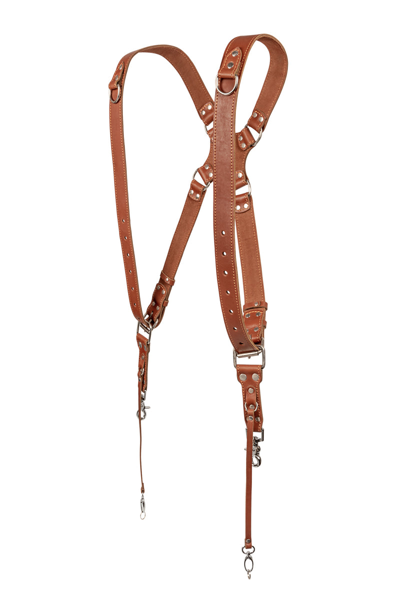 Leather Dual Camera Harness