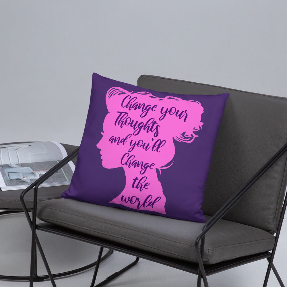 CHANGE THE WORLD PILLOW
