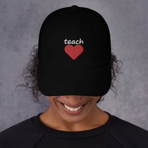 TEACH LOVE BIG HEART HAT