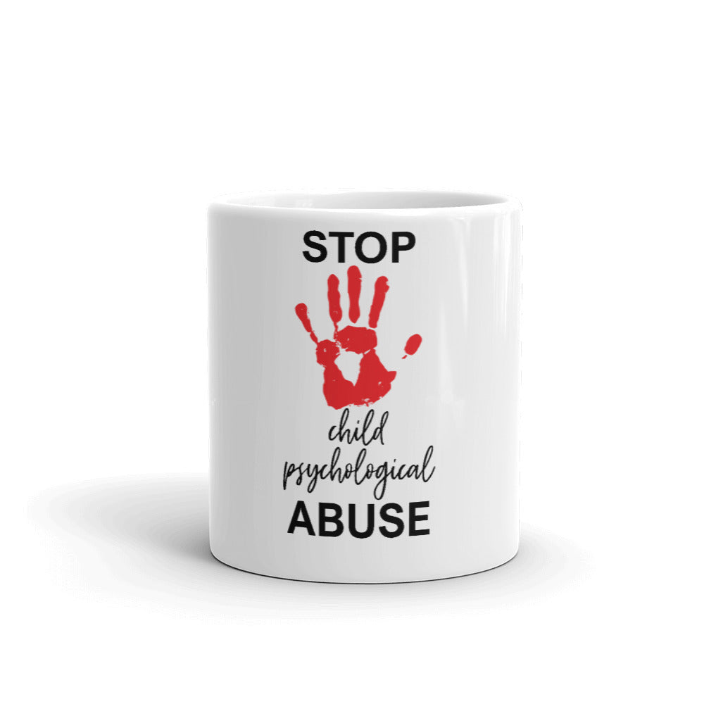 STOP MENTAL CHILD PSYCHOLOGICAL ABUSE MUG
