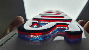 Special Edition - Union Jack themed 4D Neon plates