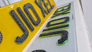 4D Neon Green available with glitter plates