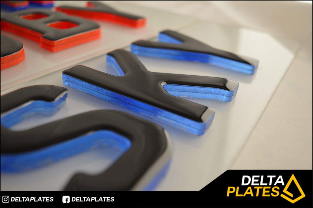 Double Stacked NEON Gel plates - BEST looking plates around!