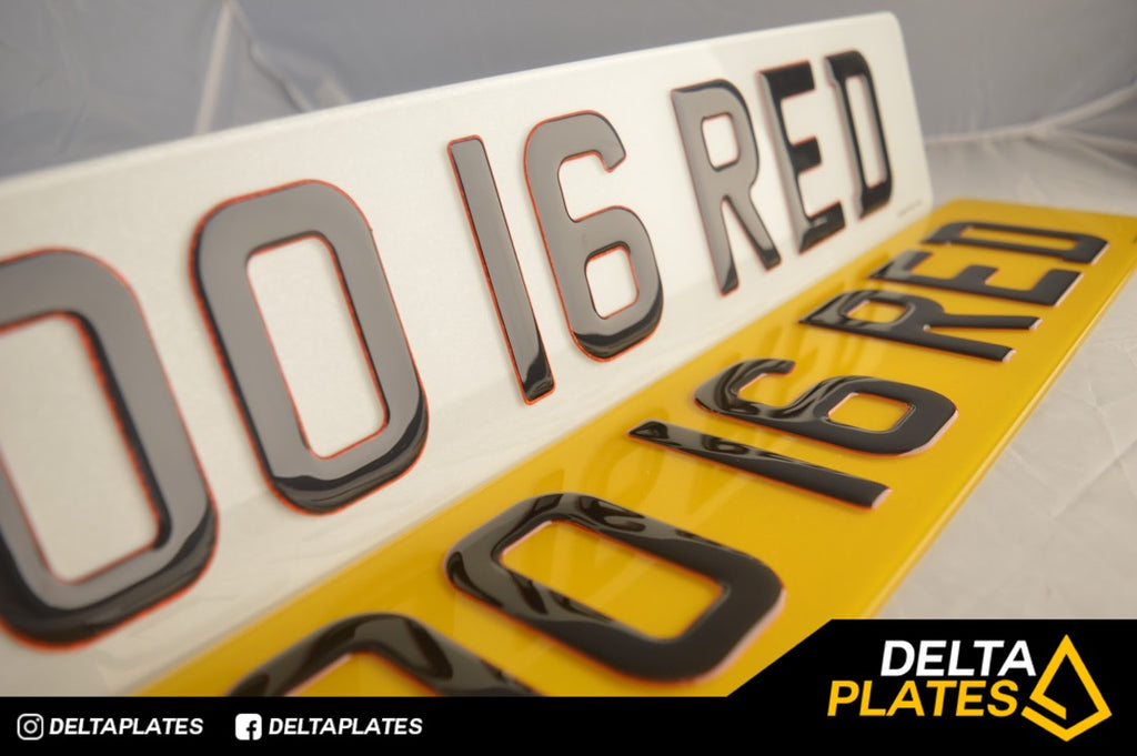 3D Glitter Red Gel plates - Ultimate sleek number plates!