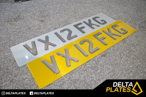 TINTED Carbon GEL Number Plates - Check the carbon pattern!