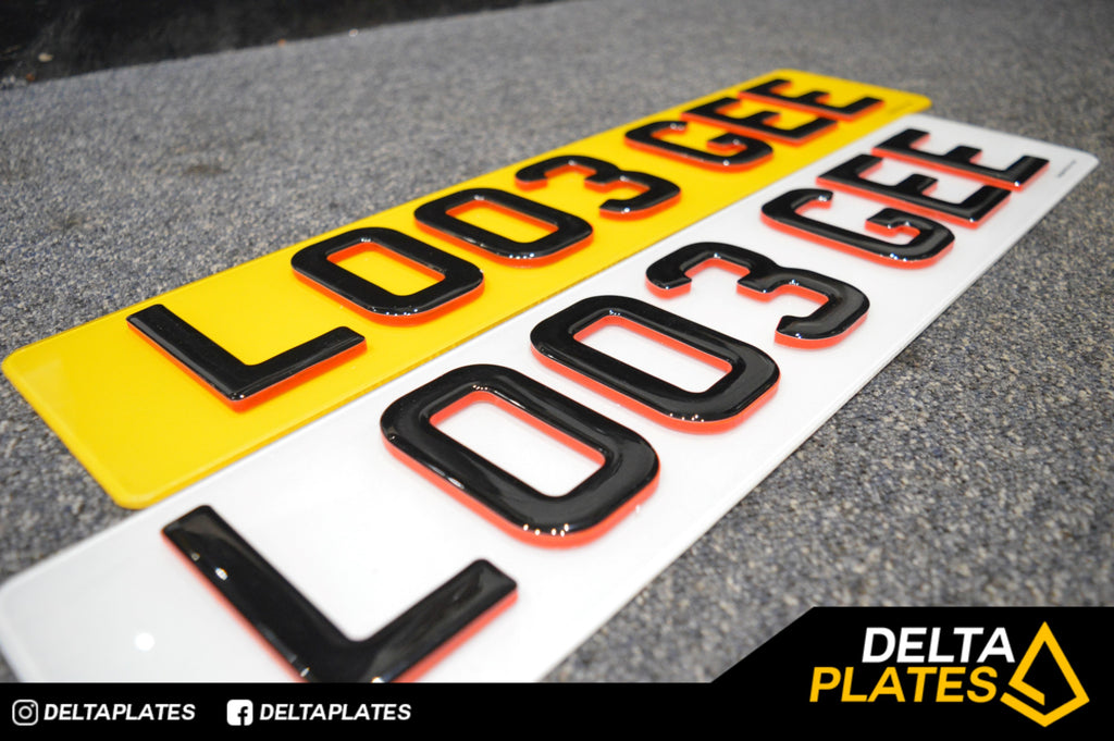 Red NEON 4D Plates- Only @ Delta Plates