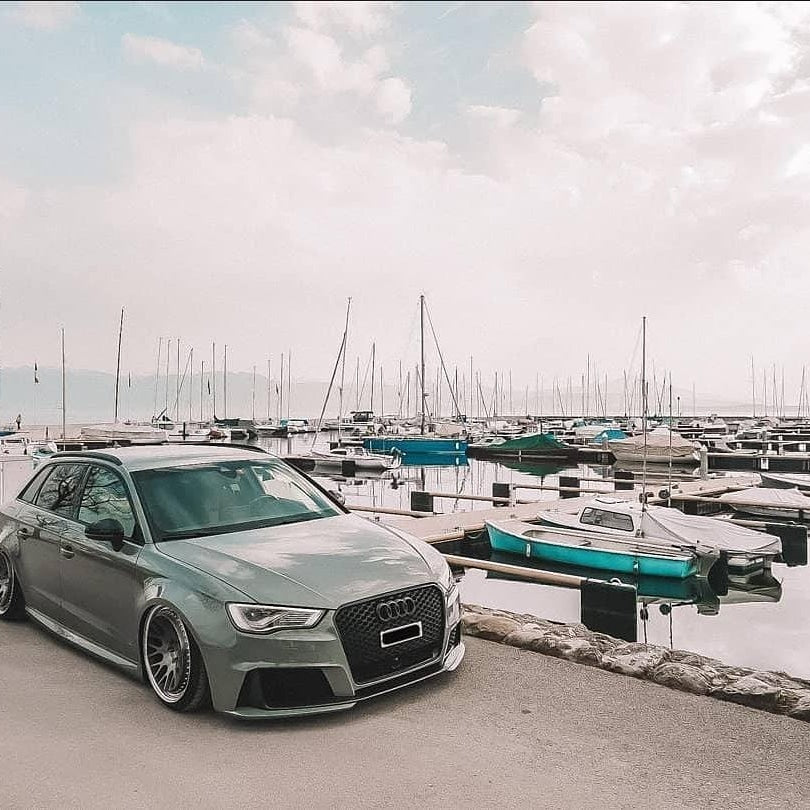 Audi RS3 8V with a custom 4D plate