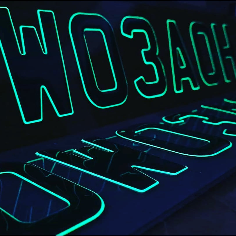 Make your car stand out with Glow in the dark 3D gel plates