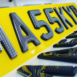 Carbon 4D plates - perfect for any car enthusiast
