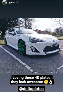 Another happy customer - his Toyota GT86 with some 4D plates