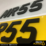 4d Number Plate - Delta Plates