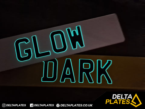 3D Glow in the Dark Gel Resin Acrylic Plates
