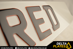 3D Glitter Red Gel Resin Acrylic Plates