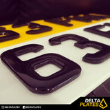 4D Black with Black Gel Resin Acrylic Plates