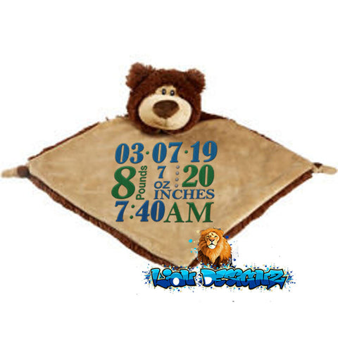 Embroidered Bear Blanket