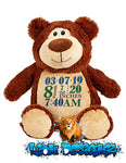 Embroidered Cubbyford Brown Bear