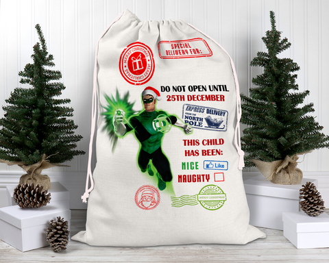Custom Green Lantern Santa Sack