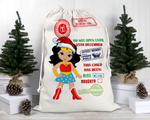 Custom Wonder Woman Santa Sack
