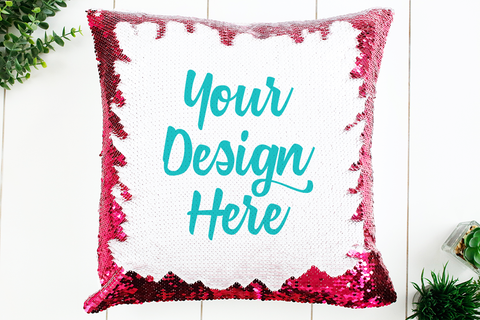 Pink Sequin Pillow