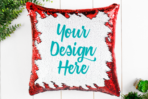 Red Sequin Pillow