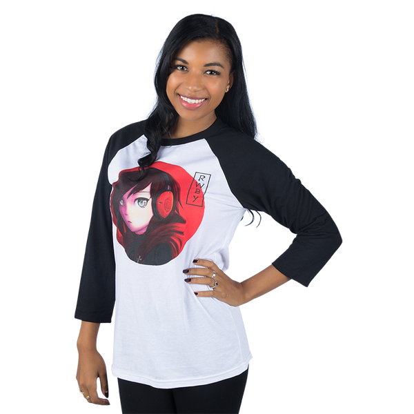 RWBY HEADPHONES RUBY RAGLAN SHIRT