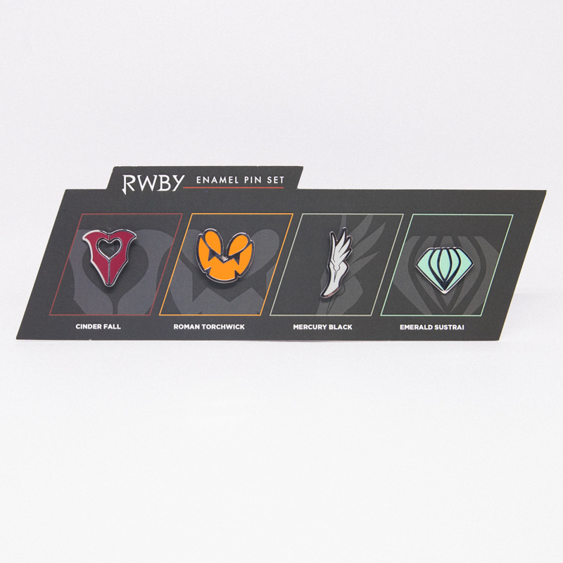 RWBY Team Villains Emblems Enamel Pins - 4 Pack
