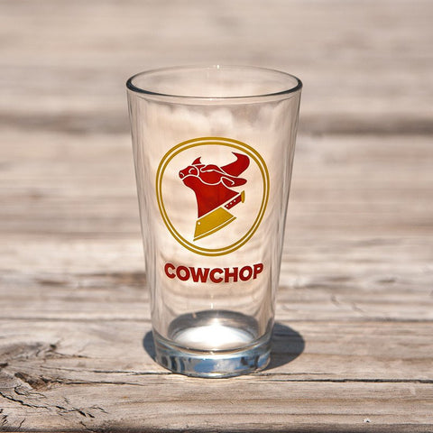 COW CHOP LOGO PINT GLASS