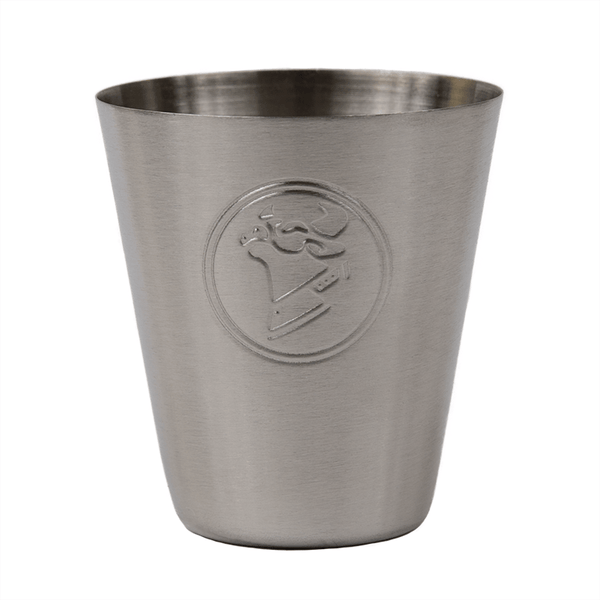 COW CHOP STAINLESS STEEL SHOT GLASS